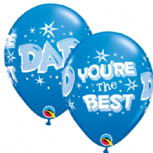 Dad You're The Best (Dark Blue) - 11 Inch Balloons 6pcs